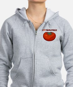 I Love Tomatoes Zip Hoody