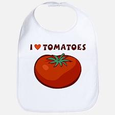 I Love Tomatoes Baby Bib