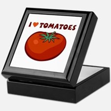 I Love Tomatoes Keepsake Box