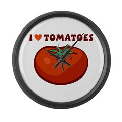 I Love Tomatoes Large Wall Clock
