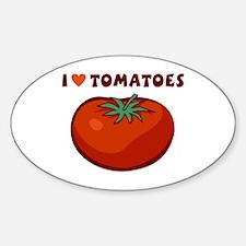 I Love Tomatoes Decal
