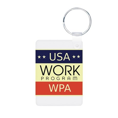 WPA Logo Aluminum Photo Keychain