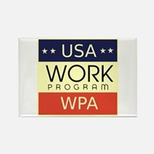 WPA Logo Rectangle Magnet