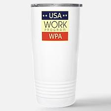 WPA Logo Stainless Steel Travel Mug