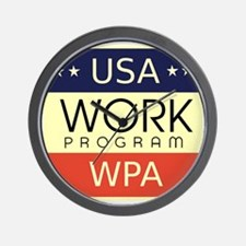 WPA Logo Wall Clock