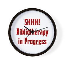 SHHH! Bibliotherapy in Progress Wall Clock