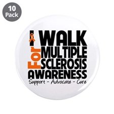 "I Walk Multiple Sclerosis 3.5"" Button (10 pack)"