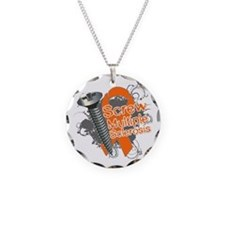 Screw Multiple Sclerosis Necklace Circle Charm