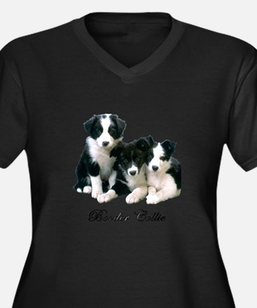 Border Collie Puppies Plus Size T-Shirt