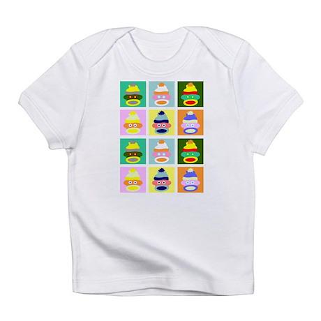 Pop Art Sock Monkeys Infant T-Shirt