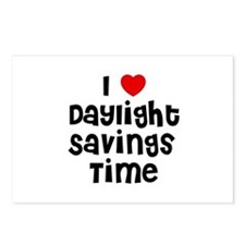 I * Daylight Savings Time Postcards (Package of 8)