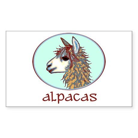 alpaca annie's Rectangle Sticker