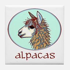 alpaca annie's Tile Coaster