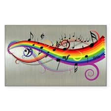 Mixed color musical notes 2 Decal
