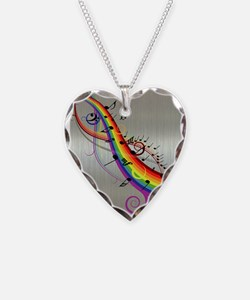 Mixed color musical notes 2 Necklace