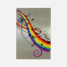Mixed color musical notes 2 Rectangle Magnet