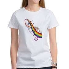 Mixed color musical notes 2 Tee