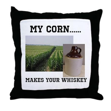 Corn Growers Throw Pillow