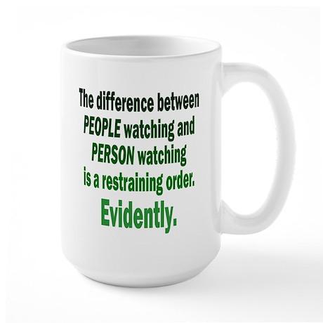 Restraining Order Large Mug