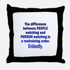 Restraining Order Throw Pillow