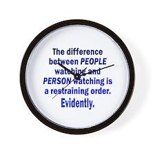 Restraining Order Wall Clock