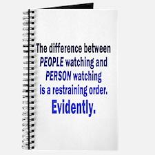 Restraining Order Journal