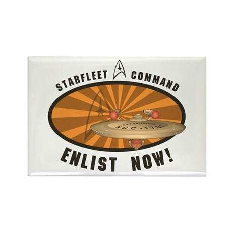 Enlist Now Rectangle Magnet