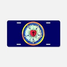 Luther Seal Aluminum License Plate