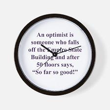 An optimist is Wall Clock