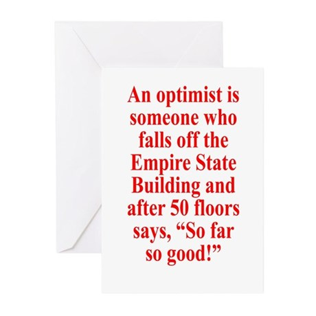 An optimist is Greeting Cards (Pk of 20)