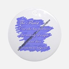 Flutist Verse Ornament (Round)