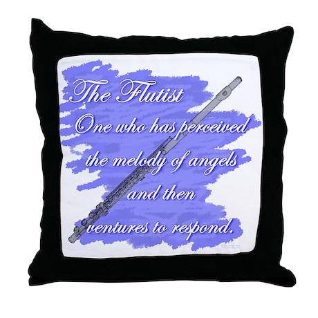 Flutist Verse Throw Pillow