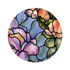 Purple Flower Ornament (Round)