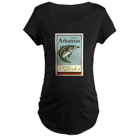 Travel Arkansas Maternity Dark T-Shirt