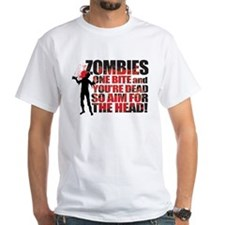zombies one bite and you're dead aim for the head!