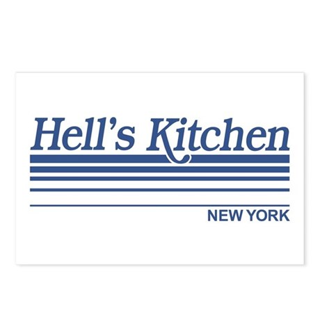 Hell's Kitchen New York Postcards (Package of 8)