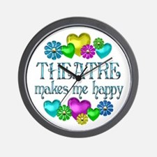 Theatre Happiness Wall Clock