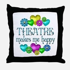 Theatre Happiness Throw Pillow