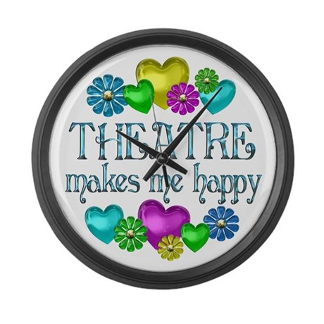 Theatre Happiness Large Wall Clock