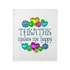 Theatre Happiness Throw Blanket