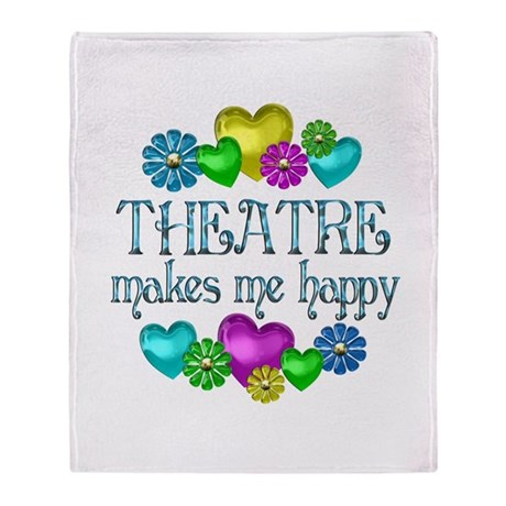 Theatre Happiness Throw Blanket
