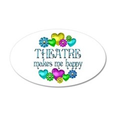 Theatre Happiness 22x14 Oval Wall Peel