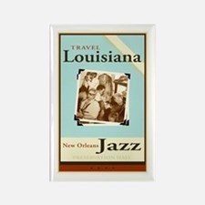 Travel Louisiana - Jazz Rectangle Magnet