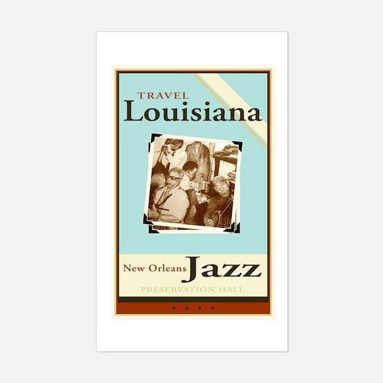 Travel Louisiana - Jazz Sticker (Rectangle)