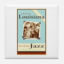 Travel Louisiana - Jazz Tile Coaster