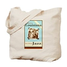 Travel Louisiana - Jazz Tote Bag
