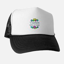 Tennis Happiness Trucker Hat