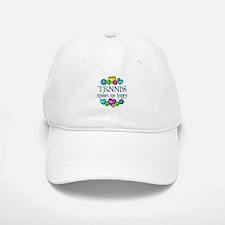 Tennis Happiness Baseball Baseball Cap