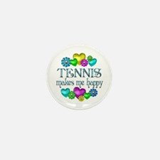 Tennis Happiness Mini Button (10 pack)