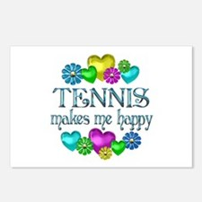 Tennis Happiness Postcards (Package of 8)